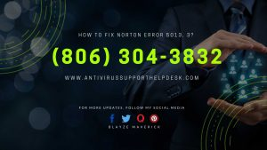 How to fix Norton Error 5013, 3 Antivirus Support