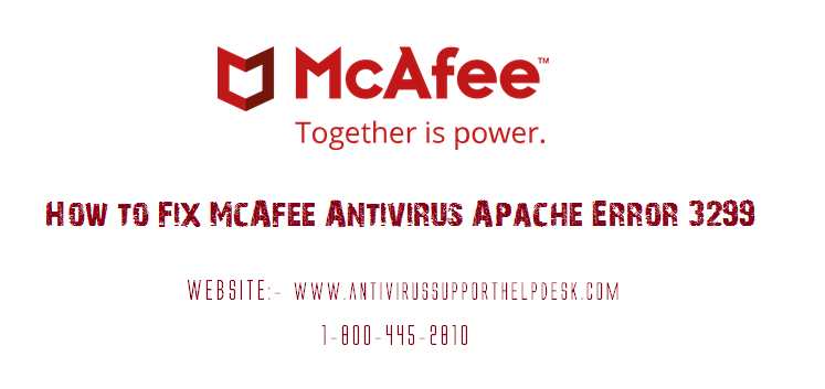 How to Resolve McAfee Antivirus Error Code 3299