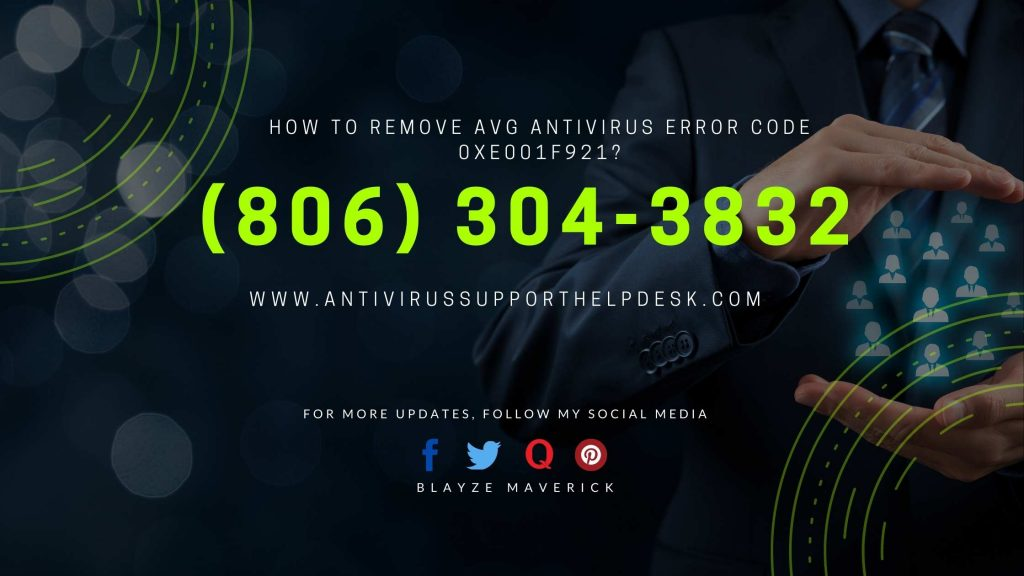 How to Remove AVG Antivirus Error Code 0xe001f921