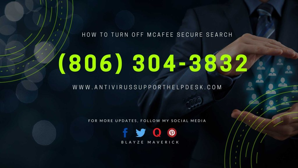 How To Turn Off Mcafee Secure Search