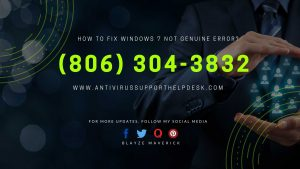 HOW TO FIX WINDOWS 7 NOT GENUINE ERROR